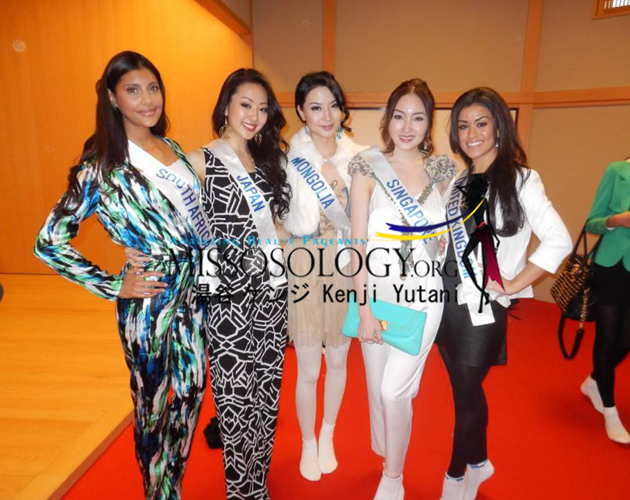 Miss south africa cindy rosalind miss japan yukiko takahashi