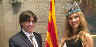 Mireia Lalaguna meets the president of Catalonia