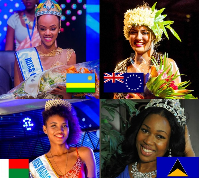 Rwanda will debut this year with Jolly Mutesi as its contestant. Cook Islands meanwhile is making a comeback and will be represented by Natalia Short. Madagascar and St. Lucia are also returning to Miss World and will be represented by Samantha Todivelou and La Toya Moffat respectively