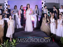 Miss World Philippines 2015 Hillarie Parungao (center) with this year's MWP candidates