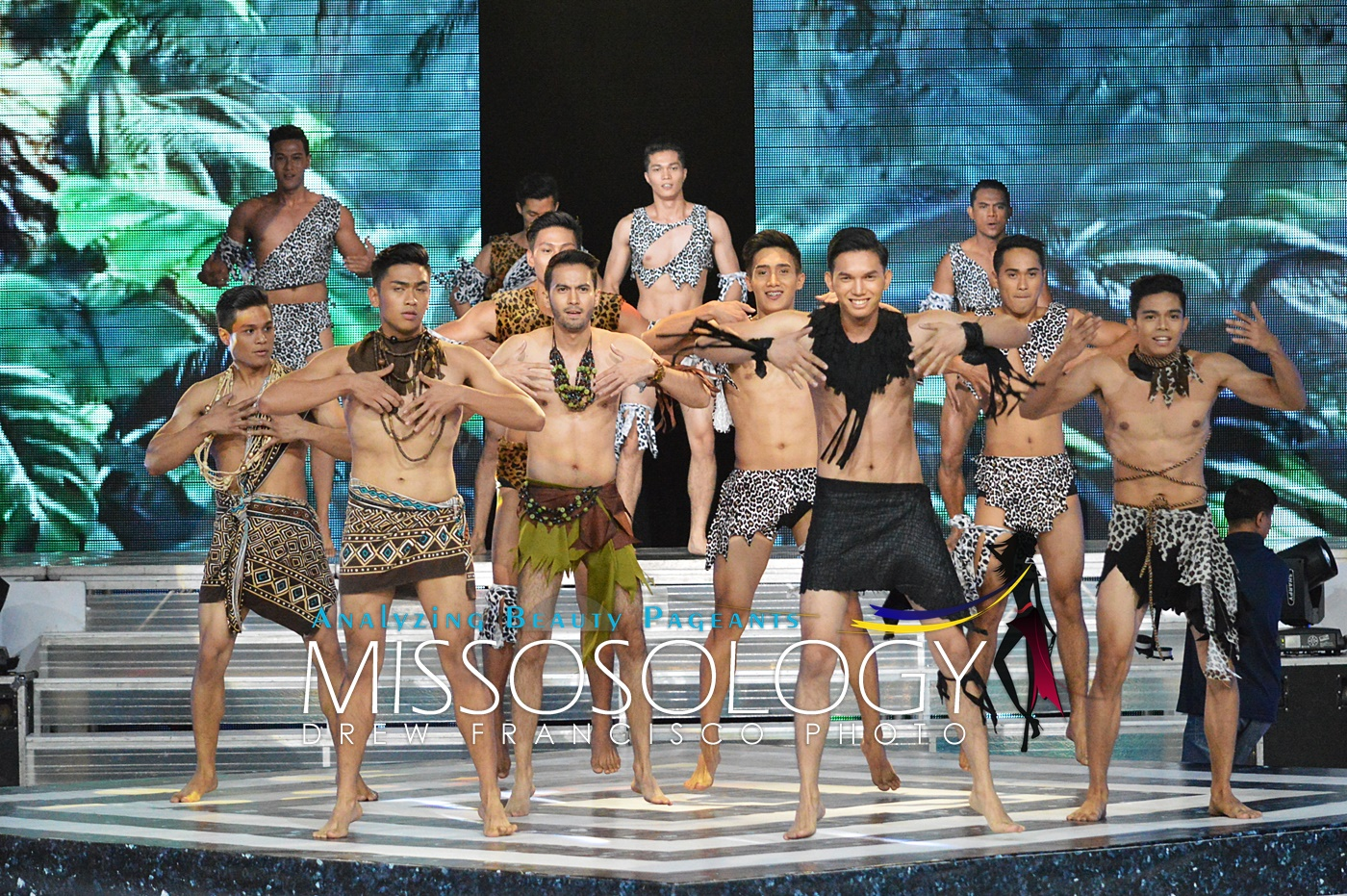 The 27 candidates opened the show with a jungle inspired upbeat number