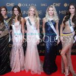 Miss Universe 2016 candidates pose during the 65th Miss Universe red carpet. PHOTO: Bong Tan/Missosology