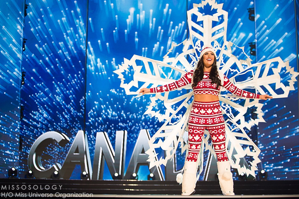 Siera Bearchell, Miss Canada 2016 debuts her National Costume on stage at the Mall of Asia Arena on Thursday, January 25, 2017.  The contestants have been touring, filming, rehearsing and preparing to compete for the Miss Universe crown in the Philippines.  Tune in to the FOX telecast at 7:00 PM ET live/PT tape-delayed on Sunday, January 29, live from the Philippines to see who will become Miss Universe. HO/The Miss Universe Organization