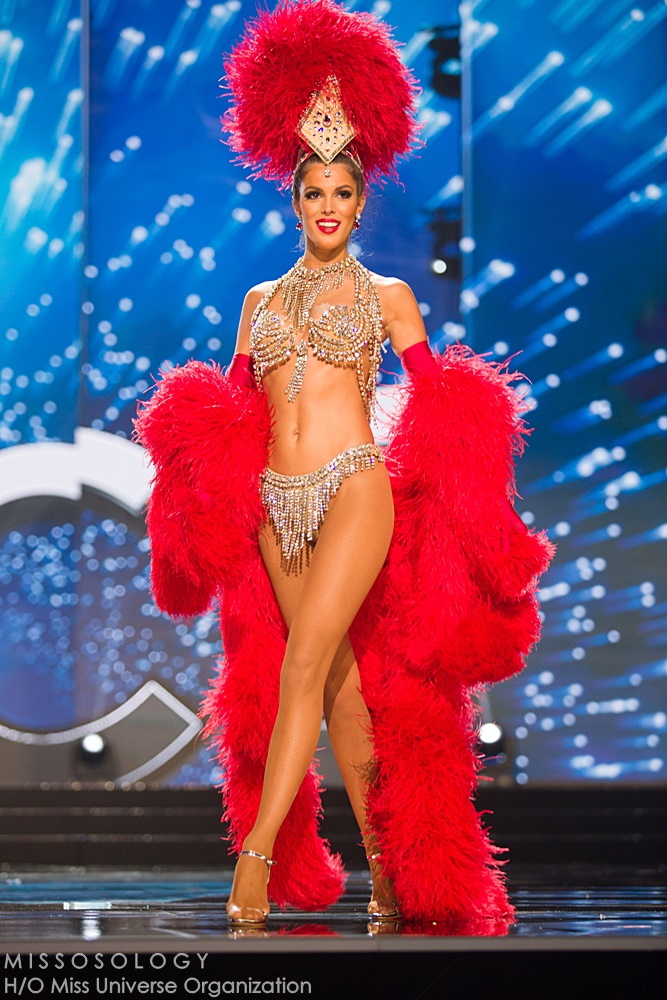Iris Mittenaere, Miss France 2016  debuts her National Costume on stage at the Mall of Asia Arena on Thursday, January 25, 2017.  The contestants have been touring, filming, rehearsing and preparing to compete for the Miss Universe crown in the Philippines.  Tune in to the FOX telecast at 7:00 PM ET live/PT tape-delayed on Sunday, January 29, live from the Philippines to see who will become Miss Universe. HO/The Miss Universe Organization