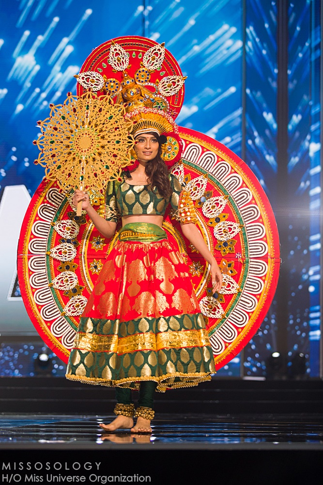 Roshmitha Harimurthy, Miss India 2016 debuts her National Costume on stage at the Mall of Asia Arena on Thursday, January 25, 2017.  The contestants have been touring, filming, rehearsing and preparing to compete for the Miss Universe crown in the Philippines.  Tune in to the FOX telecast at 7:00 PM ET live/PT tape-delayed on Sunday, January 29, live from the Philippines to see who will become Miss Universe. HO/The Miss Universe Organization