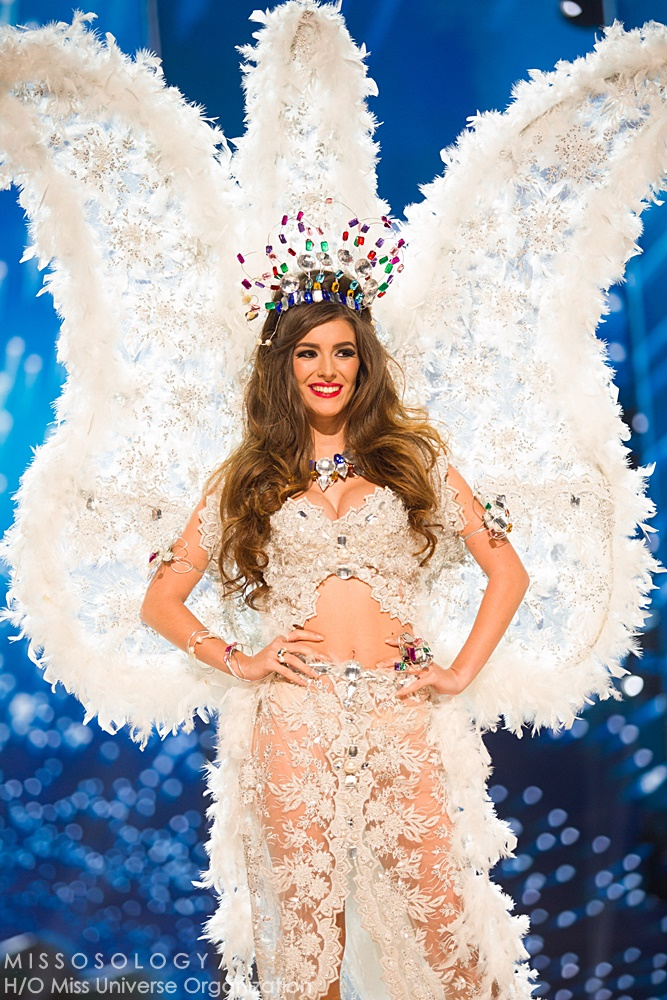 Flavia Brito, Miss Portugal 2016 debuts her National Costume on stage at the Mall of Asia Arena on Thursday, January 25, 2017.  The contestants have been touring, filming, rehearsing and preparing to compete for the Miss Universe crown in the Philippines.  Tune in to the FOX telecast at 7:00 PM ET live/PT tape-delayed on Sunday, January 29, live from the Philippines to see who will become Miss Universe. HO/The Miss Universe Organization