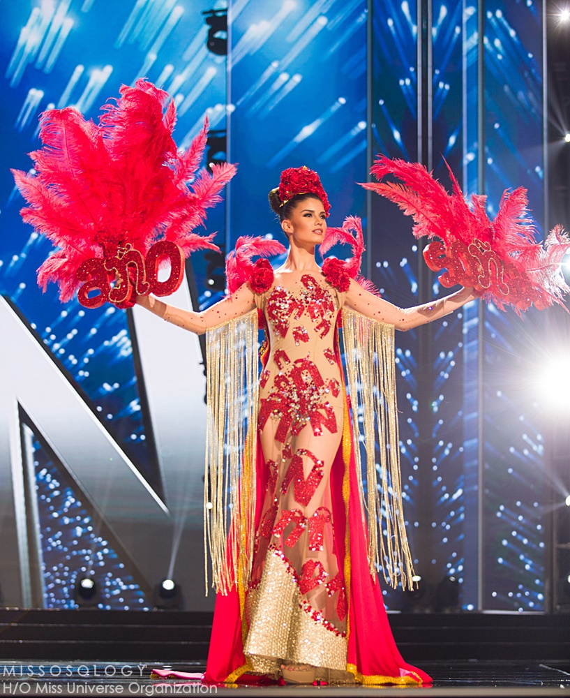 Nohelia Freirie, Miss Spain 2016 debuts her National Costume on stage at the Mall of Asia Arena on Thursday, January 25, 2017.  The contestants have been touring, filming, rehearsing and preparing to compete for the Miss Universe crown in the Philippines.  Tune in to the FOX telecast at 7:00 PM ET live/PT tape-delayed on Sunday, January 29, live from the Philippines to see who will become Miss Universe. HO/The Miss Universe Organization