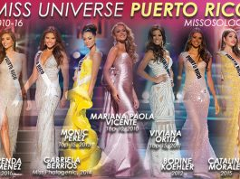 Miss Universe Puerto Rico winners since 2010