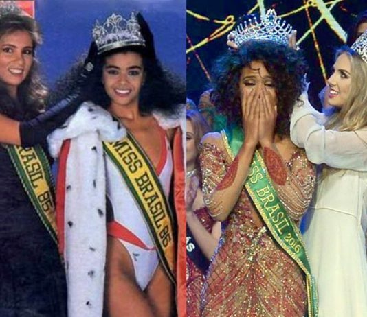 Raissa Santana is the second woman of color who won the Miss Brazil title. The first to clinch the title is Deise Nunes de Souza in 1986