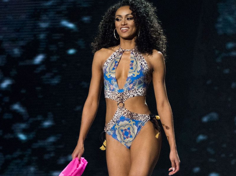 Kára McCullough, Miss District Of Columbia USA 2017, competes as a top 10 finalist in swimwear by Yandy Swim during The MISS USA 2017 Competition