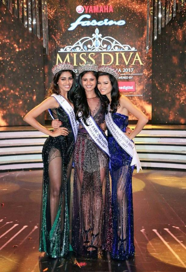 Shraddha Shashidhar is the winner of Yamaha Fascino Miss Diva 2017. Peden Ongmu Namgyal is Miss Diva Supranational 2017 while Apeksha Porwal is the second runner-up