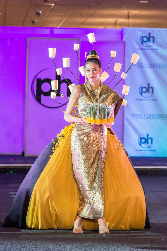Souphaphone Somvichith, Miss Laos 2017 debuts her National Costume on stage at Planet Hollywood Resort & Casino on November 18, 2017. The National Costume Show is an international tradition where contestants display an authentic costume of choice that best represents the culture of their home country. The Miss Universe contestants are touring, filming, rehearsing and preparing to compete for the Miss Universe crown in Las Vegas, NV. Tune in to the FOX telecast at 7:00 PM ET live/PT tape-delayed on Sunday, November 26, live from the AXIS at Planet Hollywood Resort & Casino in Las Vegas to see who will become the next Miss Universe. HO/The Miss Universe Organization