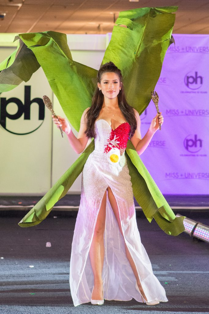 Samantha James, Miss Malaysia 2017 debuts her National Costume on stage at Planet Hollywood Resort & Casino on November 18, 2017. The National Costume Show is an international tradition where contestants display an authentic costume of choice that best represents the culture of their home country. The Miss Universe contestants are touring, filming, rehearsing and preparing to compete for the Miss Universe crown in Las Vegas, NV. Tune in to the FOX telecast at 7:00 PM ET live/PT tape-delayed on Sunday, November 26, live from the AXIS at Planet Hollywood Resort & Casino in Las Vegas to see who will become the next Miss Universe. HO/The Miss Universe Organization