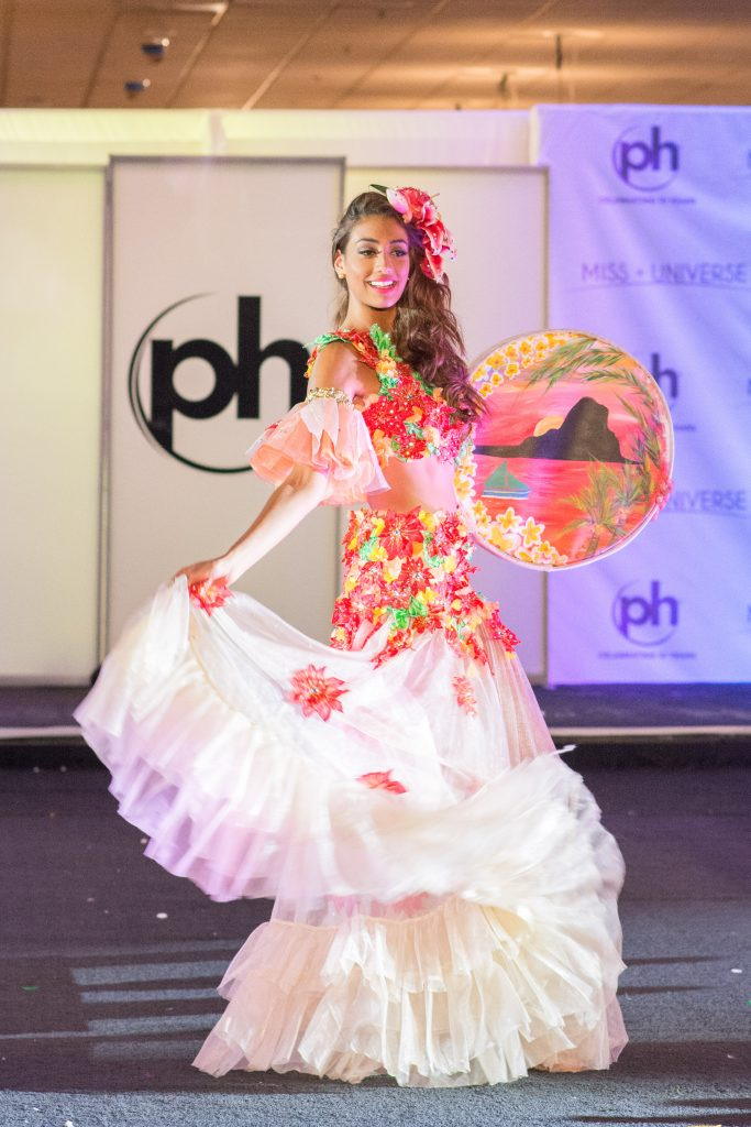Angie Callychurn, Miss Mauritius 2017 debuts her National Costume on stage at Planet Hollywood Resort & Casino on November 18, 2017. The National Costume Show is an international tradition where contestants display an authentic costume of choice that best represents the culture of their home country. The Miss Universe contestants are touring, filming, rehearsing and preparing to compete for the Miss Universe crown in Las Vegas, NV. Tune in to the FOX telecast at 7:00 PM ET live/PT tape-delayed on Sunday, November 26, live from the AXIS at Planet Hollywood Resort & Casino in Las Vegas to see who will become the next Miss Universe. HO/The Miss Universe Organization