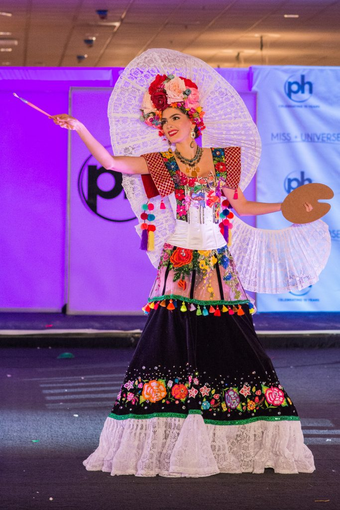 Denisse Franco, Miss Mexico 2017 debuts her National Costume on stage at Planet Hollywood Resort & Casino on November 18, 2017. The National Costume Show is an international tradition where contestants display an authentic costume of choice that best represents the culture of their home country. The Miss Universe contestants are touring, filming, rehearsing and preparing to compete for the Miss Universe crown in Las Vegas, NV. Tune in to the FOX telecast at 7:00 PM ET live/PT tape-delayed on Sunday, November 26, live from the AXIS at Planet Hollywood Resort & Casino in Las Vegas to see who will become the next Miss Universe. HO/The Miss Universe Organization