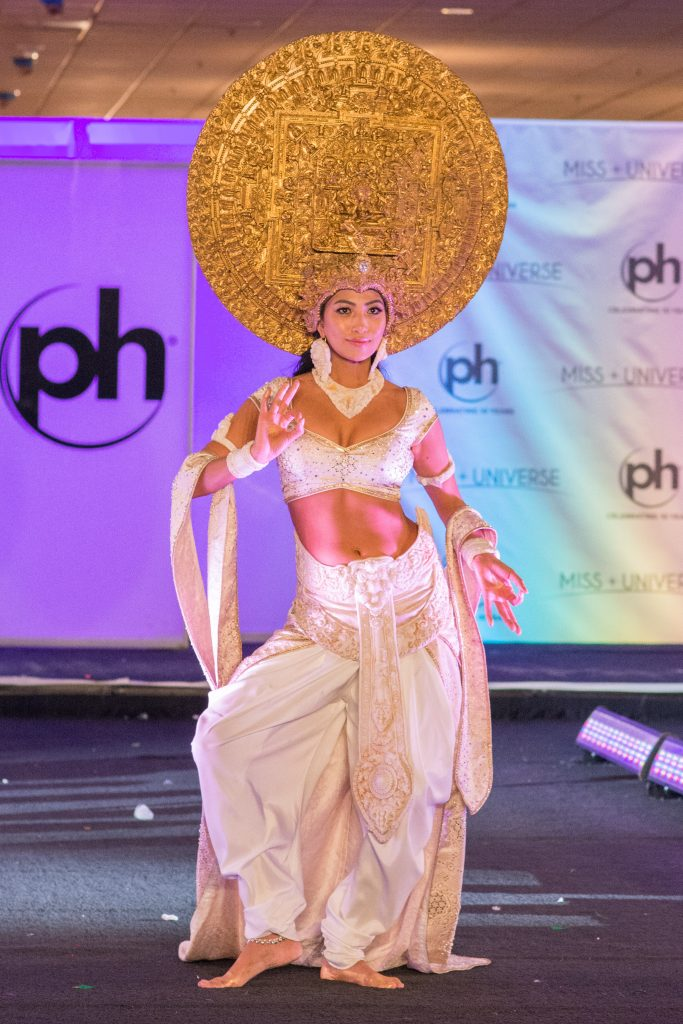 Nagma Shrestha, Miss Nepal 2017 debuts her National Costume on stage at Planet Hollywood Resort & Casino on November 18, 2017. The National Costume Show is an international tradition where contestants display an authentic costume of choice that best represents the culture of their home country. The Miss Universe contestants are touring, filming, rehearsing and preparing to compete for the Miss Universe crown in Las Vegas, NV. Tune in to the FOX telecast at 7:00 PM ET live/PT tape-delayed on Sunday, November 26, live from the AXIS at Planet Hollywood Resort & Casino in Las Vegas to see who will become the next Miss Universe. HO/The Miss Universe Organization
