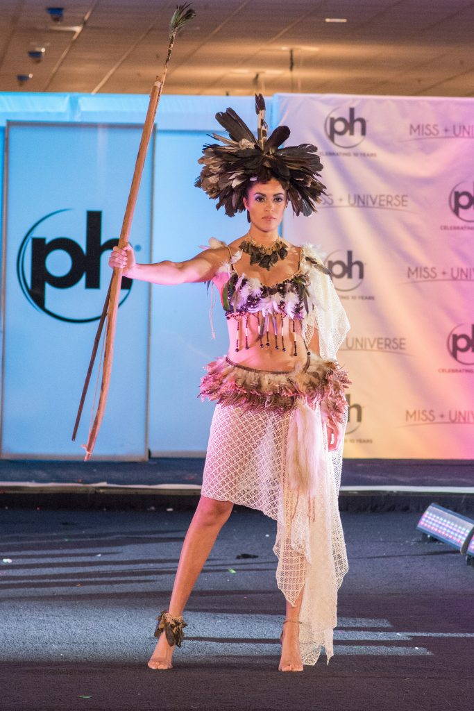 Ariela Machado, Miss Paraguay 2017 debuts her National Costume on stage at Planet Hollywood Resort & Casino on November 18, 2017. The National Costume Show is an international tradition where contestants display an authentic costume of choice that best represents the culture of their home country. The Miss Universe contestants are touring, filming, rehearsing and preparing to compete for the Miss Universe crown in Las Vegas, NV. Tune in to the FOX telecast at 7:00 PM ET live/PT tape-delayed on Sunday, November 26, live from the AXIS at Planet Hollywood Resort & Casino in Las Vegas to see who will become the next Miss Universe. HO/The Miss Universe Organization