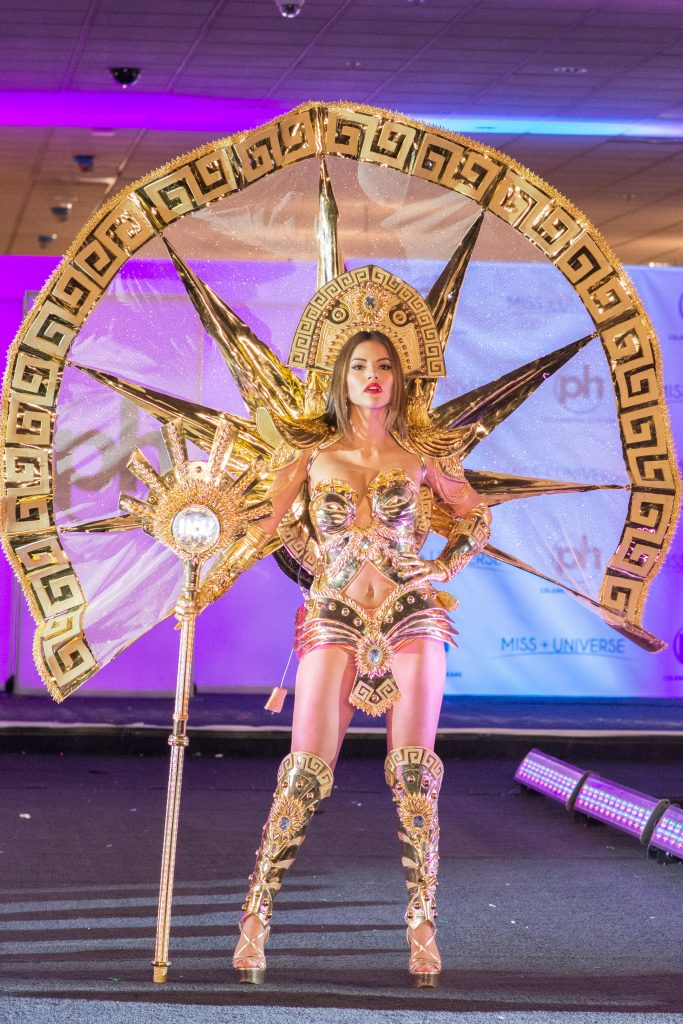 Prissila Howard, Miss Peru 2017 debuts her National Costume on stage at Planet Hollywood Resort & Casino on November 18, 2017. The National Costume Show is an international tradition where contestants display an authentic costume of choice that best represents the culture of their home country. The Miss Universe contestants are touring, filming, rehearsing and preparing to compete for the Miss Universe crown in Las Vegas, NV. Tune in to the FOX telecast at 7:00 PM ET live/PT tape-delayed on Sunday, November 26, live from the AXIS at Planet Hollywood Resort & Casino in Las Vegas to see who will become the next Miss Universe. HO/The Miss Universe Organization