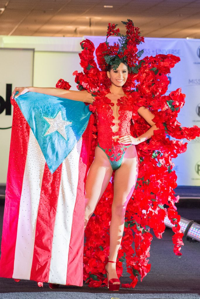 Danna Hernández, Miss Puerto Rico 2017 debuts her National Costume on stage at Planet Hollywood Resort & Casino on November 18, 2017. The National Costume Show is an international tradition where contestants display an authentic costume of choice that best represents the culture of their home country. The Miss Universe contestants are touring, filming, rehearsing and preparing to compete for the Miss Universe crown in Las Vegas, NV. Tune in to the FOX telecast at 7:00 PM ET live/PT tape-delayed on Sunday, November 26, live from the AXIS at Planet Hollywood Resort & Casino in Las Vegas to see who will become the next Miss Universe. HO/The Miss Universe Organization