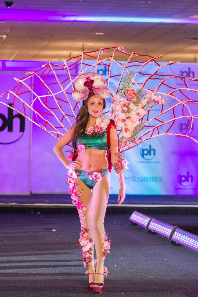 Manuela Bruntraeger, Miss Singapore 2017 debuts her National Costume on stage at Planet Hollywood Resort & Casino on November 18, 2017. The National Costume Show is an international tradition where contestants display an authentic costume of choice that best represents the culture of their home country. The Miss Universe contestants are touring, filming, rehearsing and preparing to compete for the Miss Universe crown in Las Vegas, NV. Tune in to the FOX telecast at 7:00 PM ET live/PT tape-delayed on Sunday, November 26, live from the AXIS at Planet Hollywood Resort & Casino in Las Vegas to see who will become the next Miss Universe. HO/The Miss Universe Organization