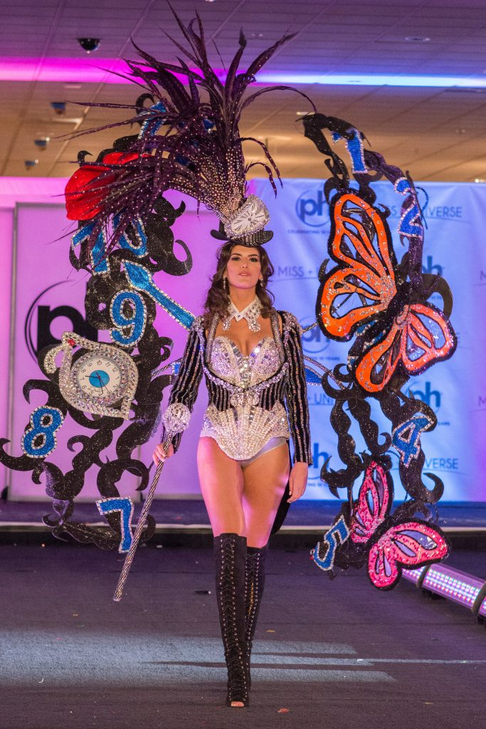 Sofia del Prado, Miss Spain 2017 debuts her National Costume on stage at Planet Hollywood Resort & Casino on November 18, 2017. The National Costume Show is an international tradition where contestants display an authentic costume of choice that best represents the culture of their home country. The Miss Universe contestants are touring, filming, rehearsing and preparing to compete for the Miss Universe crown in Las Vegas, NV. Tune in to the FOX telecast at 7:00 PM ET live/PT tape-delayed on Sunday, November 26, live from the AXIS at Planet Hollywood Resort & Casino in Las Vegas to see who will become the next Miss Universe. HO/The Miss Universe Organization
