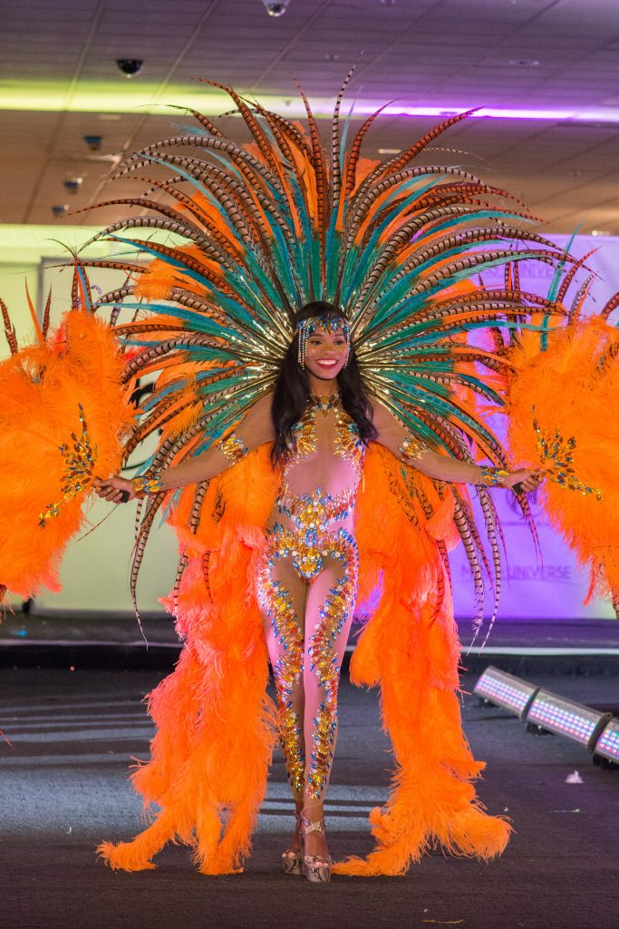 Yvonne Clarke, Miss Trinidad & Tobago 2017 debuts her National Costume on stage at Planet Hollywood Resort & Casino on November 18, 2017. The National Costume Show is an international tradition where contestants display an authentic costume of choice that best represents the culture of their home country. The Miss Universe contestants are touring, filming, rehearsing and preparing to compete for the Miss Universe crown in Las Vegas, NV. Tune in to the FOX telecast at 7:00 PM ET live/PT tape-delayed on Sunday, November 26, live from the AXIS at Planet Hollywood Resort & Casino in Las Vegas to see who will become the next Miss Universe. HO/The Miss Universe Organization