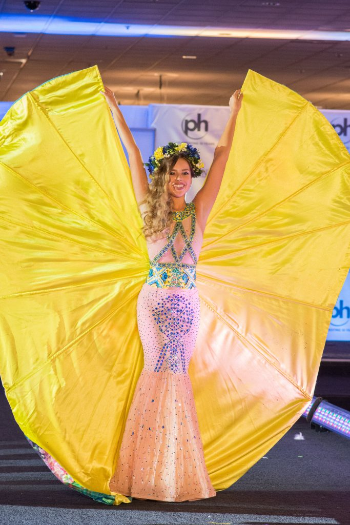 Yana Krasnikova, Miss Ukraine 2017 debuts her National Costume on stage at Planet Hollywood Resort & Casino on November 18, 2017. The National Costume Show is an international tradition where contestants display an authentic costume of choice that best represents the culture of their home country. The Miss Universe contestants are touring, filming, rehearsing and preparing to compete for the Miss Universe crown in Las Vegas, NV. Tune in to the FOX telecast at 7:00 PM ET live/PT tape-delayed on Sunday, November 26, live from the AXIS at Planet Hollywood Resort & Casino in Las Vegas to see who will become the next Miss Universe. HO/The Miss Universe Organization