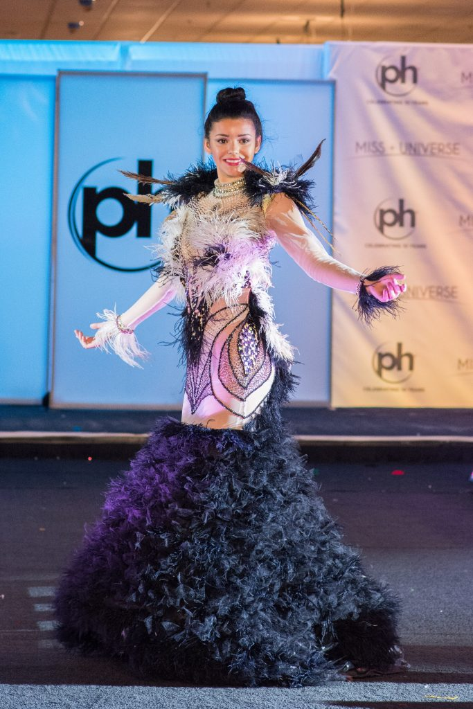 Marisol Acosta, Miss Uruguay 2017 debuts her National Costume on stage at Planet Hollywood Resort & Casino on November 18, 2017. The National Costume Show is an international tradition where contestants display an authentic costume of choice that best represents the culture of their home country. The Miss Universe contestants are touring, filming, rehearsing and preparing to compete for the Miss Universe crown in Las Vegas, NV. Tune in to the FOX telecast at 7:00 PM ET live/PT tape-delayed on Sunday, November 26, live from the AXIS at Planet Hollywood Resort & Casino in Las Vegas to see who will become the next Miss Universe. HO/The Miss Universe Organization