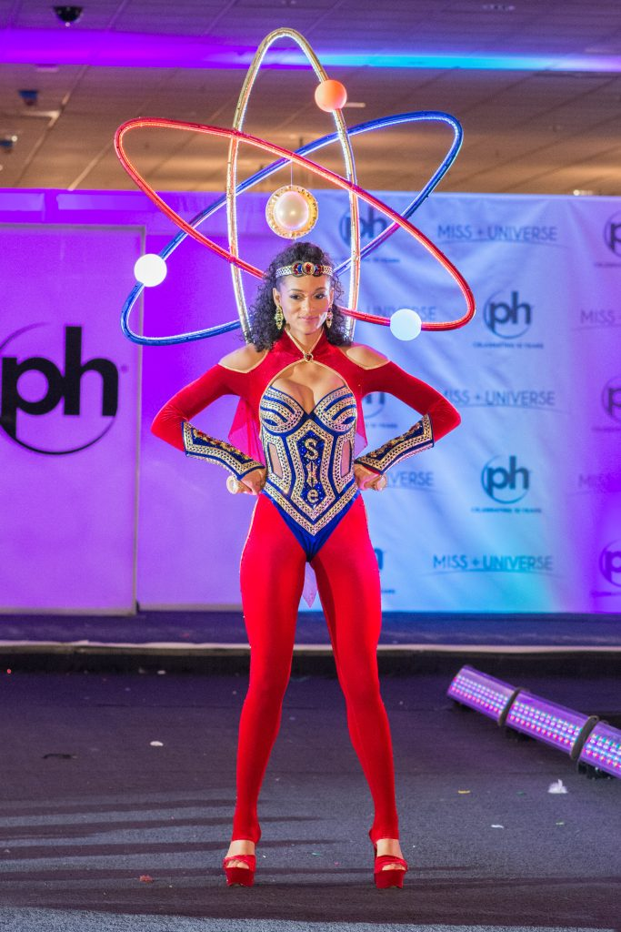 Kára McCullough, Miss USA 2017 debuts her National Costume on stage at Planet Hollywood Resort & Casino on November 18, 2017. The National Costume Show is an international tradition where contestants display an authentic costume of choice that best represents the culture of their home country. The Miss Universe contestants are touring, filming, rehearsing and preparing to compete for the Miss Universe crown in Las Vegas, NV. Tune in to the FOX telecast at 7:00 PM ET live/PT tape-delayed on Sunday, November 26, live from the AXIS at Planet Hollywood Resort & Casino in Las Vegas to see who will become the next Miss Universe. HO/The Miss Universe Organization