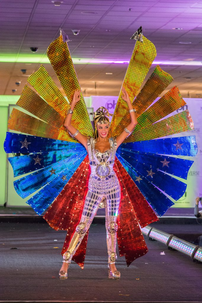 Keysi Sayago, Miss Venezuela 2017 debuts her National Costume on stage at Planet Hollywood Resort & Casino on November 18, 2017. The National Costume Show is an international tradition where contestants display an authentic costume of choice that best represents the culture of their home country. The Miss Universe contestants are touring, filming, rehearsing and preparing to compete for the Miss Universe crown in Las Vegas, NV. Tune in to the FOX telecast at 7:00 PM ET live/PT tape-delayed on Sunday, November 26, live from the AXIS at Planet Hollywood Resort & Casino in Las Vegas to see who will become the next Miss Universe. HO/The Miss Universe Organization