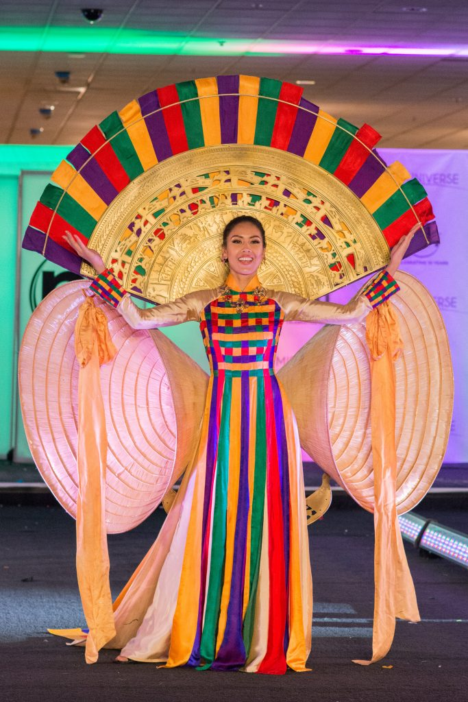 Loan Nguyen, Miss Vietnam 2017 debuts her National Costume on stage at Planet Hollywood Resort & Casino on November 18, 2017. The National Costume Show is an international tradition where contestants display an authentic costume of choice that best represents the culture of their home country. The Miss Universe contestants are touring, filming, rehearsing and preparing to compete for the Miss Universe crown in Las Vegas, NV. Tune in to the FOX telecast at 7:00 PM ET live/PT tape-delayed on Sunday, November 26, live from the AXIS at Planet Hollywood Resort & Casino in Las Vegas to see who will become the next Miss Universe. HO/The Miss Universe Organization