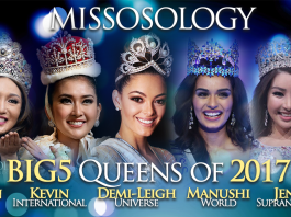 Missosology Big5 queens of 2017