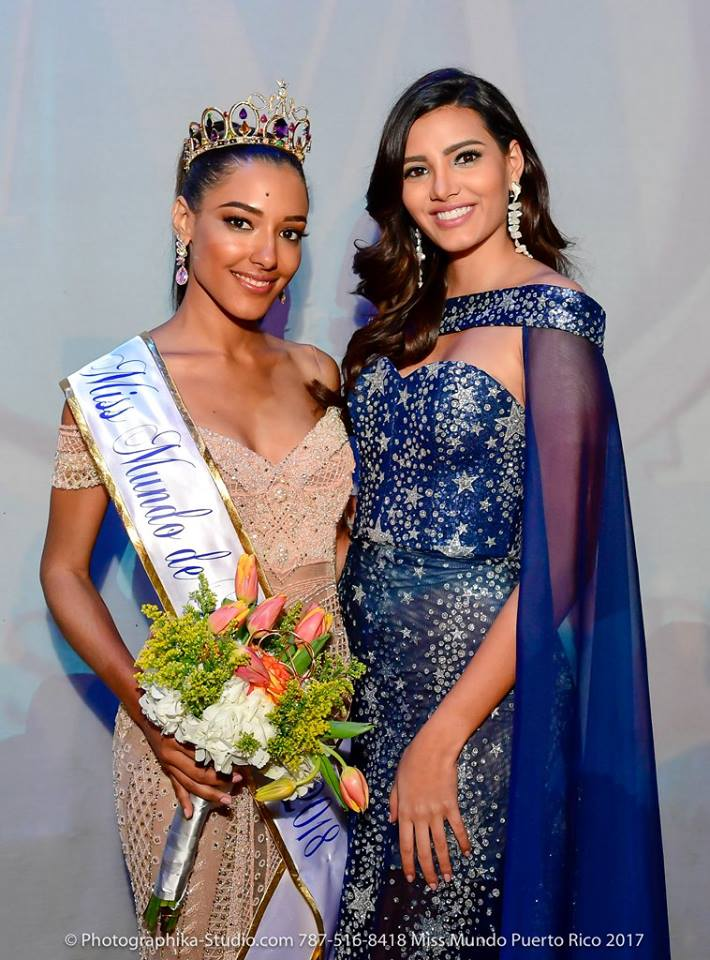 Dayanara Martínez with Miss World 2016 Stephanie del Valle