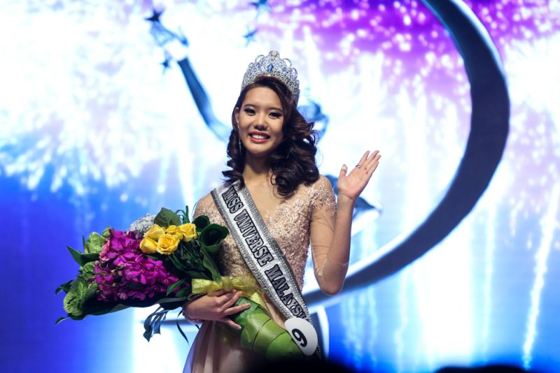 Business student Jane Teoh won the Miss Universe Malaysia 2018 title at the star-studded final at Majestic Hotel last night. (Photo by Ahmad Zamzahuri)