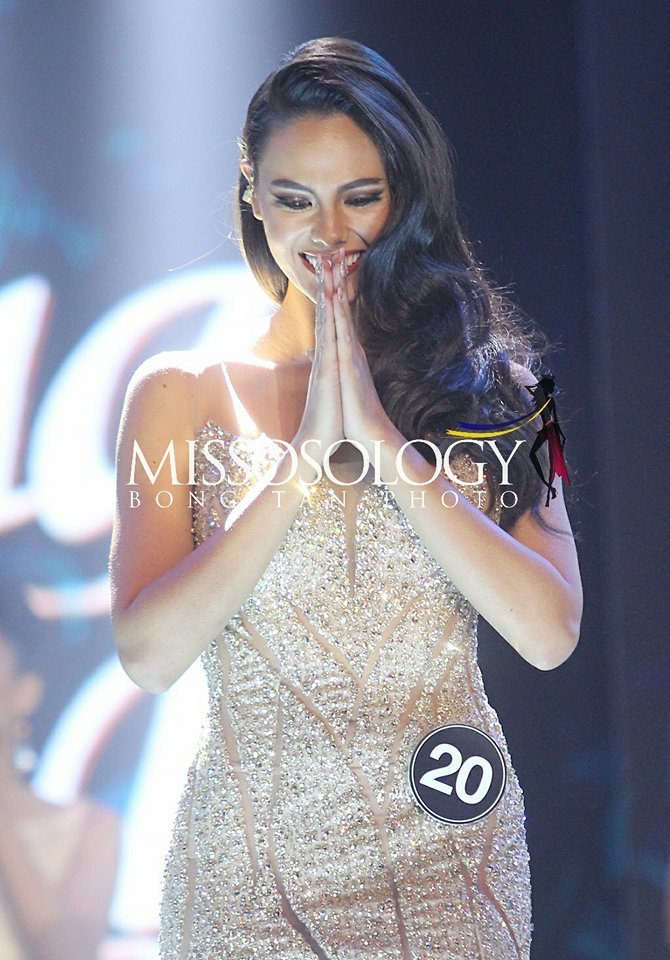 Catriona Gray reacts after she was announced Miss Universe Philippines 2018.