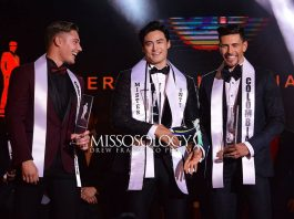 Mister International 2017 Seunghwan Lee of Korea (center) will crown his successor in February in the Philippines (Photo by Drew Francisco)