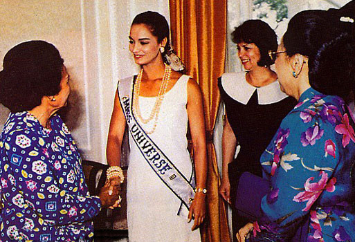 Lupita Jones was the first ever reigning Miss Universe to visit Indonesia
