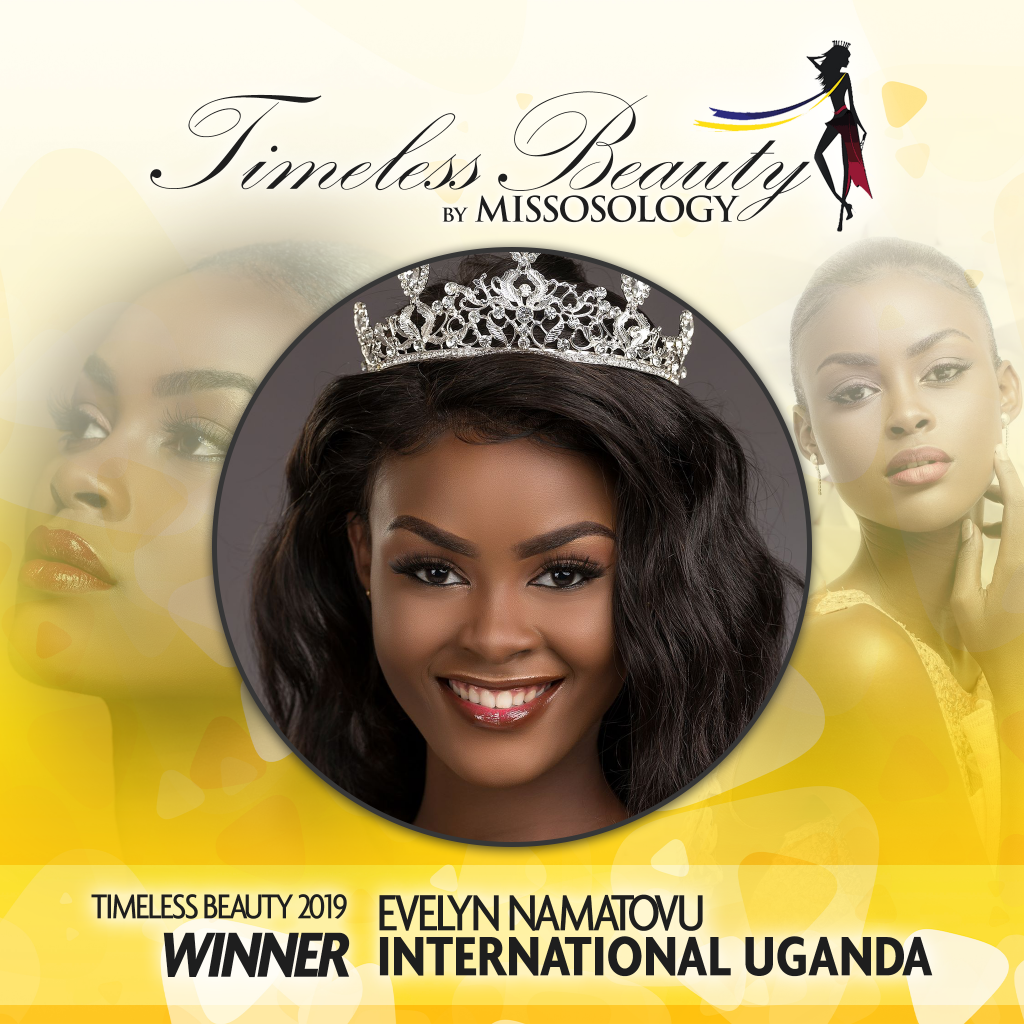 Missosology Timeless Beauty 2019 winner is Evelyn Namatovu of Uganda