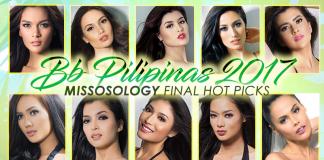 Bb Pilipinas 2017 Final Hot Picks by Missosology