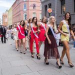 Contestants during the Miss Norway 2017 beauty camp and city parade