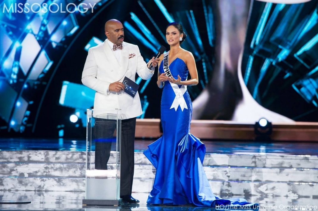 Miss Philippines Pia Wurtzbach during the Miss Universe 2015 Top 5 Q&A
